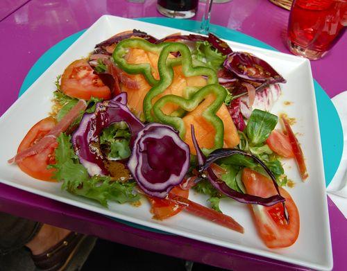 salade melon et jambon cru