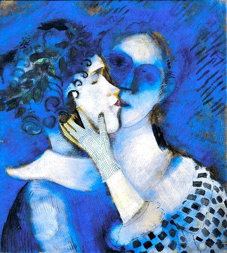 Amanti in blu - Chagall