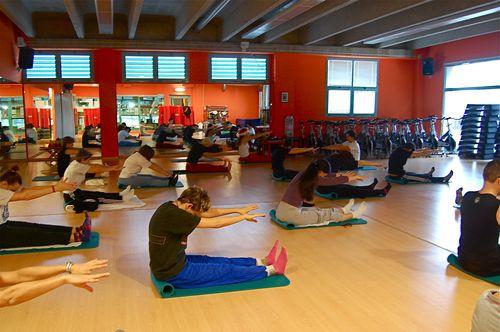 ore 9: lezione di pilates