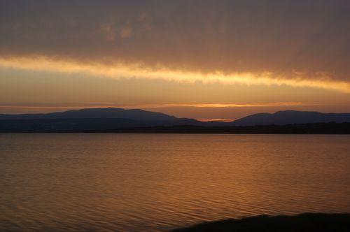 tramonto sull'étang