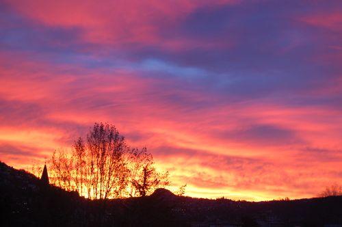 alba fiammeggiante 28 gennaio