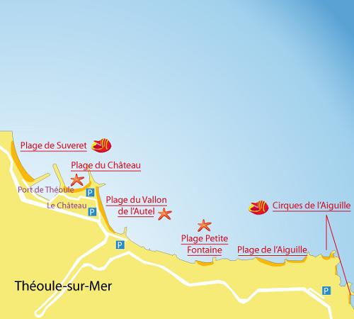Carte-plage-suveret-theoule-sur-mer
